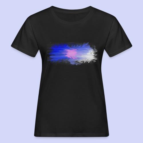 Blue lights - Female shirt - Organic damer