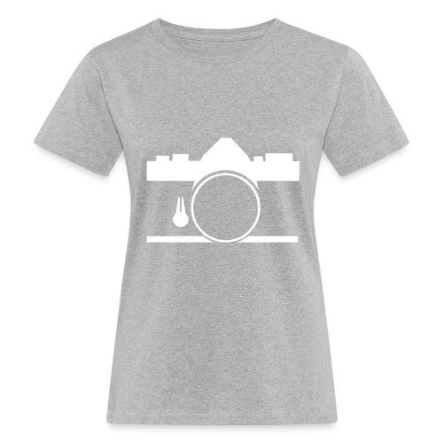 Vintage camera OM film slr - T-shirt ecologica da donna