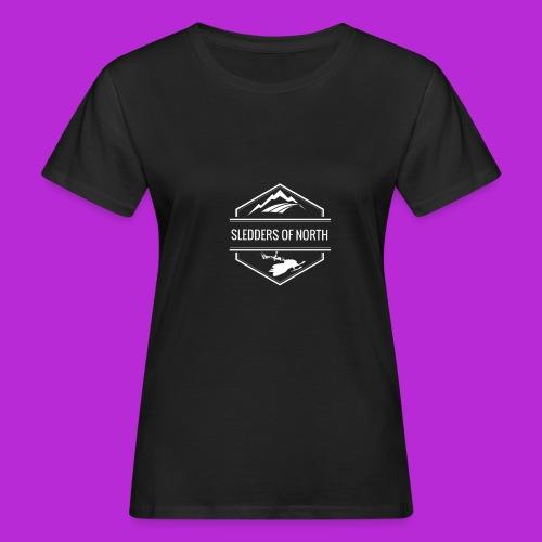 Hoodie White Logo - Women's Organic T-Shirt