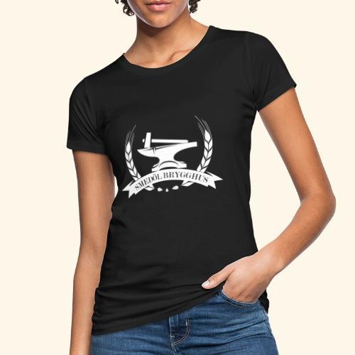 Smedöl Brygghus Logga Vit - Ekologisk T-shirt dam