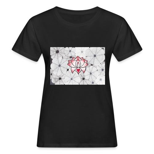 Lotus Heart - T-shirt ecologica da donna