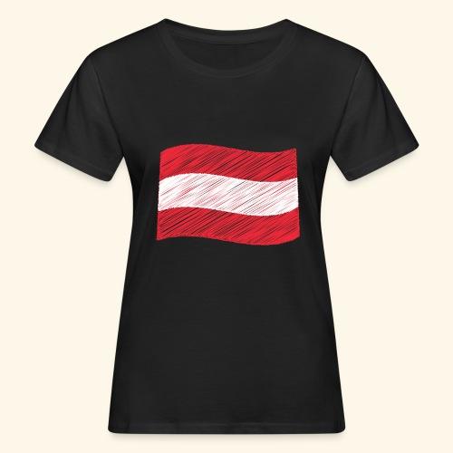 Österreichische Flagge - Frauen Bio-T-Shirt