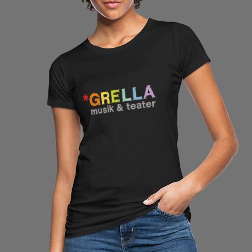 Grella musik & teater logotyp i färg - Ekologisk T-shirt dam