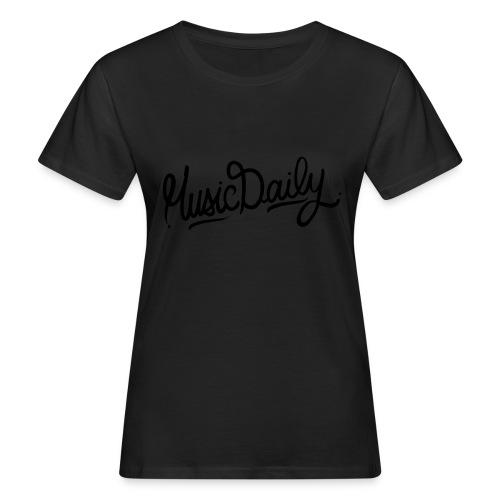 MusicDaily Logo - Vrouwen Bio-T-shirt
