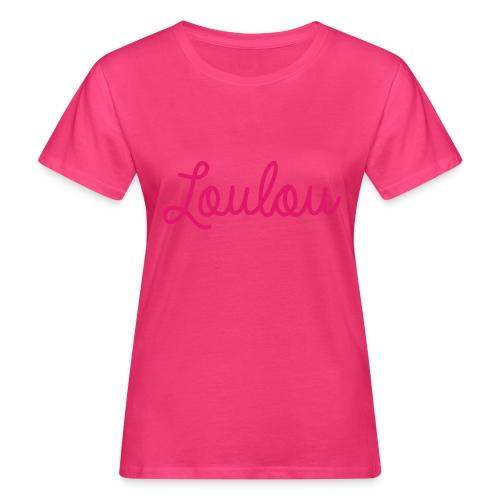Logo-Roze - Vrouwen Bio-T-shirt