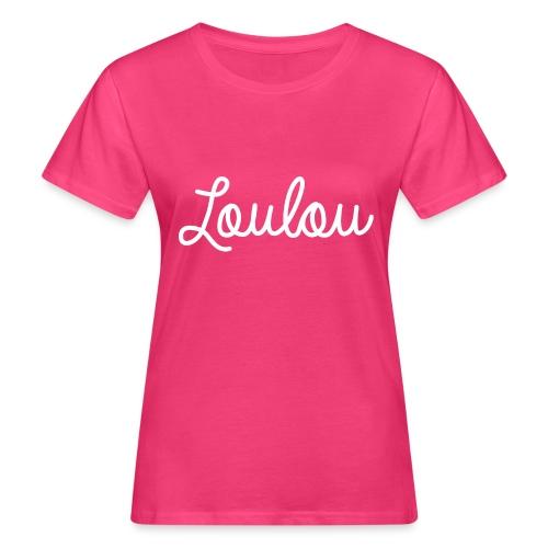 Logo-Wit - Vrouwen Bio-T-shirt
