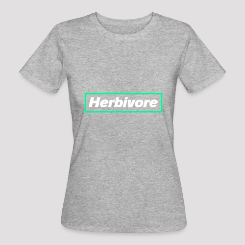 Herbivore Logo White - T-shirt ecologica da donna