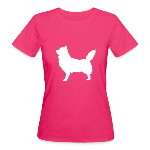 Chihuahua pitkakarva valkoinen - Naisten luonnonmukainen t-paita