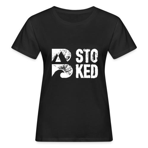 bstoked logo white - Women's Organic T-Shirt