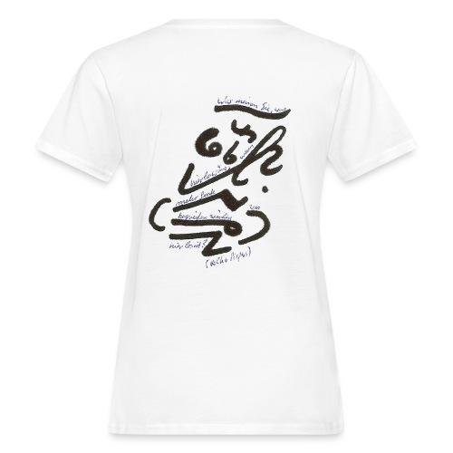 was hier los waere o link - Frauen Bio-T-Shirt