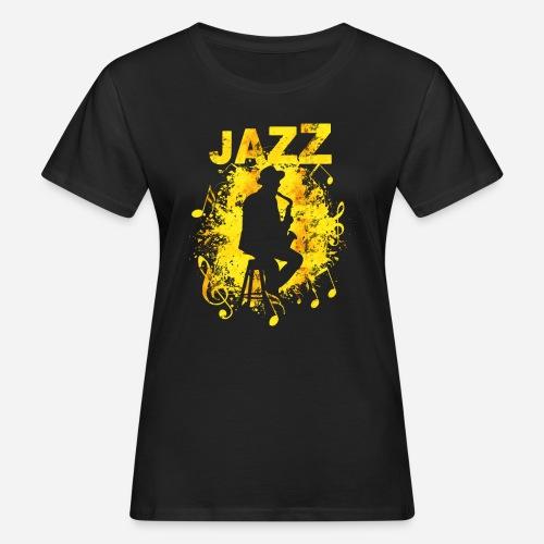 Jazz Saxophonist - Frauen Bio-T-Shirt