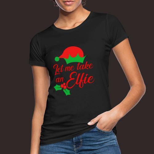 Weihnachten   Elf Mütze Weihnachtself Wortspiel - Frauen Bio-T-Shirt