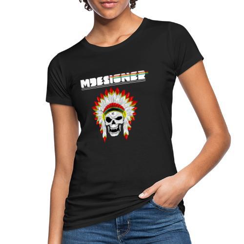 calavera o craneo con penacho de plumas vampiresco - Camiseta ecológica mujer