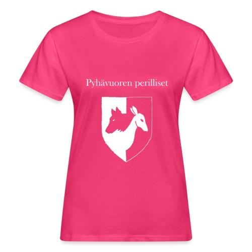 Pyhävuoren perilliset häälogo+teksti - Naisten luonnonmukainen t-paita