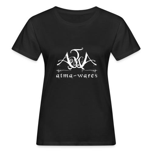 atma wares logo white - Vrouwen Bio-T-shirt