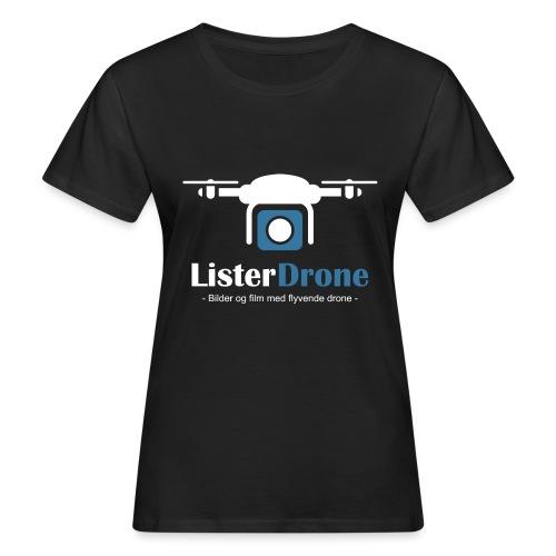 ListerDrone logo - Økologisk T-skjorte for kvinner