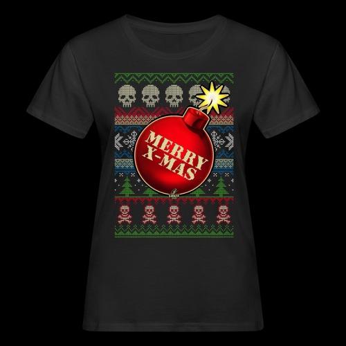 Merry X-Mas Christbaumkugel-Bombe - Frauen Bio-T-Shirt