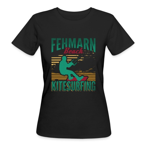 Kitesurfing Fehmarn - Frauen Bio-T-Shirt