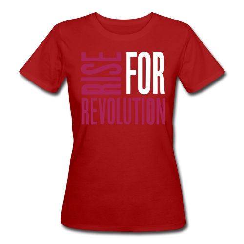 rise for rev logo - Women's Organic T-Shirt