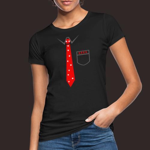 Geek   Schlips Krawatte Wissenschaft Streber - Frauen Bio-T-Shirt
