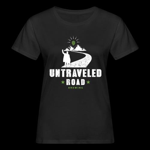 Untraveled Road Logo - weiß - Frauen Bio-T-Shirt