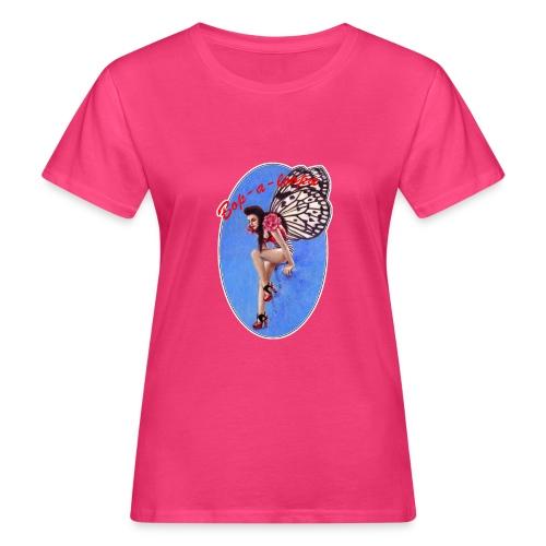 Vintage Rockabilly Butterfly Pin-up Design - Women's Organic T-Shirt