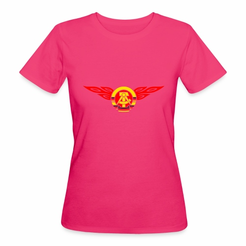 GDR flames crest 3c - Women's Organic T-Shirt