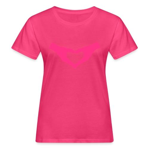 Herz Hände / Hand Heart 2 - Frauen Bio-T-Shirt