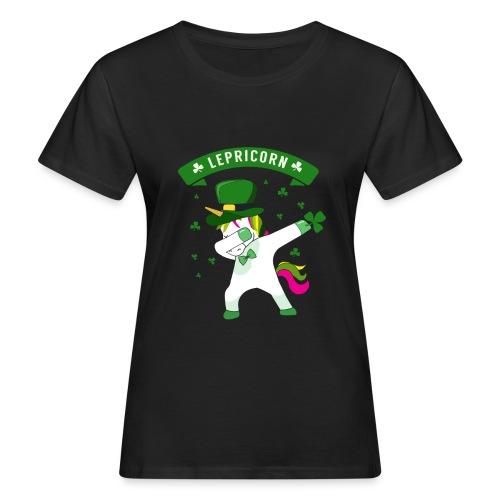 Lepricorn - St. patricks Day Unicorn dab pose - Frauen Bio-T-Shirt