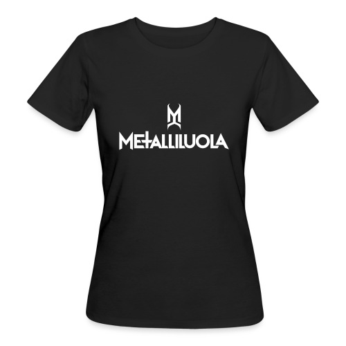 Metalliluola valkoinen logo - Naisten luonnonmukainen t-paita