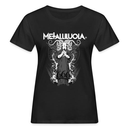 Metalliluola logo ja Demoniac 666 - Naisten luonnonmukainen t-paita