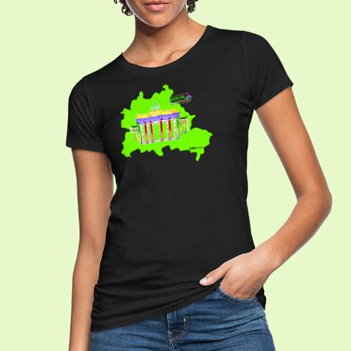 Berlin ist grün und bunt / BerlinLightShow - Frauen Bio-T-Shirt