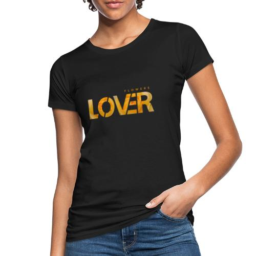Flowers Lovers - Yellow - T-shirt ecologica da donna