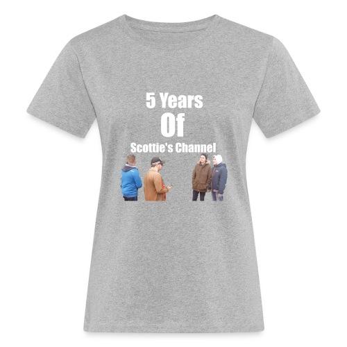 5 Years Of Scottie's Channel - Women's Organic T-Shirt