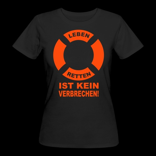 Rettungsring - Frauen Bio-T-Shirt