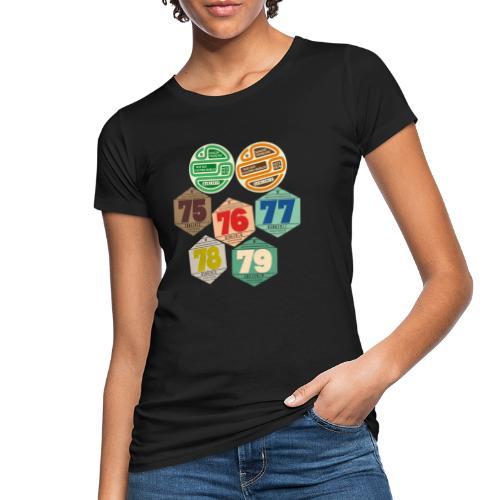 Vignettes automobiles années 70 - T-shirt bio Femme