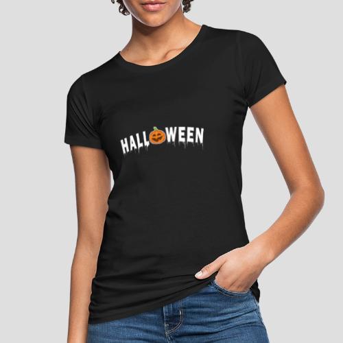 HALLOWEEN - mit Kürbis in Weiß - Frauen Bio-T-Shirt