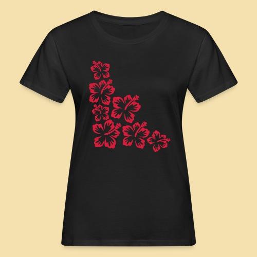 Hibiskus Blueten Ecke - Frauen Bio-T-Shirt