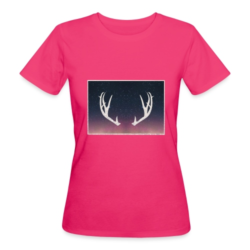 Poronsarvet taustalla - Naisten luonnonmukainen t-paita