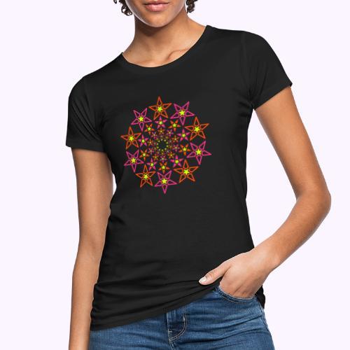 fractal estrella 3 color neón - Camiseta ecológica mujer