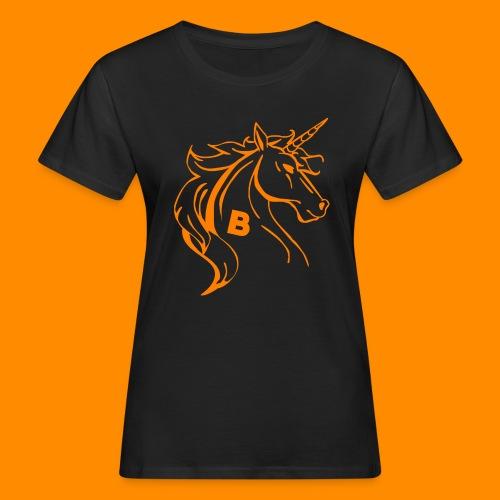 orange biodusty unicorn shirt - Vrouwen Bio-T-shirt