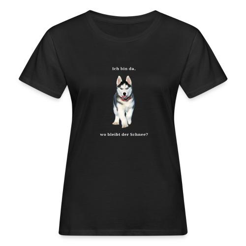 Husky Welpen mit bezaubernden Augen - Frauen Bio-T-Shirt