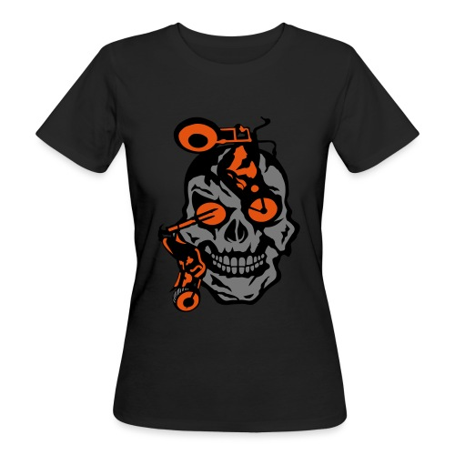 tete mort moto motrocycle oeil skull - T-shirt bio Femme