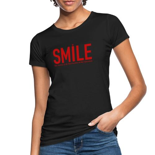 smile red star - Frauen Bio-T-Shirt