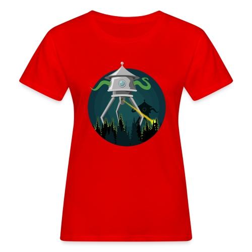 Aliens from The War of the Worlds - H. G. Wells - T-shirt ecologica da donna