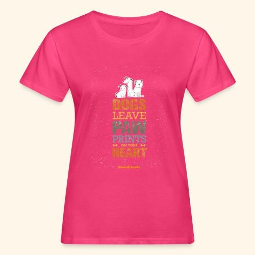 PAWPRINTONHEART - T-shirt ecologica da donna
