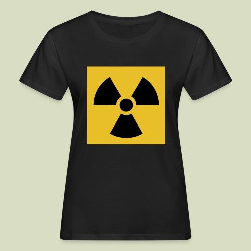 Radiation warning - Naisten luonnonmukainen t-paita
