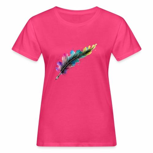penna piuma - T-shirt ecologica da donna