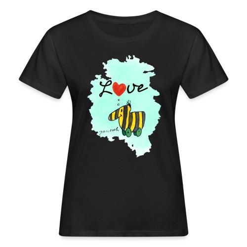 Janosch Verliebte Tigerente Herz Love - Frauen Bio-T-Shirt