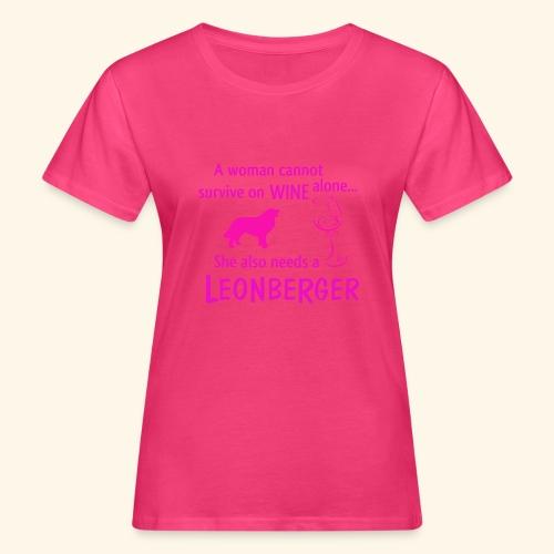 Wine&Leonberger - Ekologisk T-shirt dam